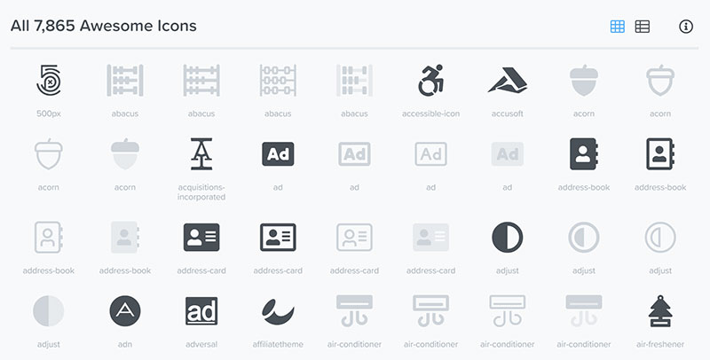 Font Awesome Icon