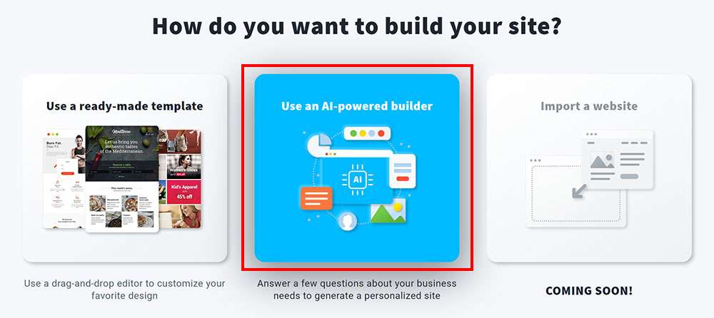 AI 智慧架站 Use a AI-powered builder