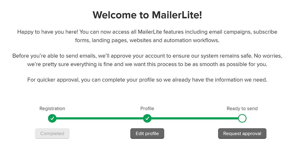 MailerLite 註冊教學