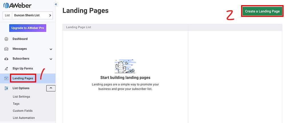 建立 Landing Page